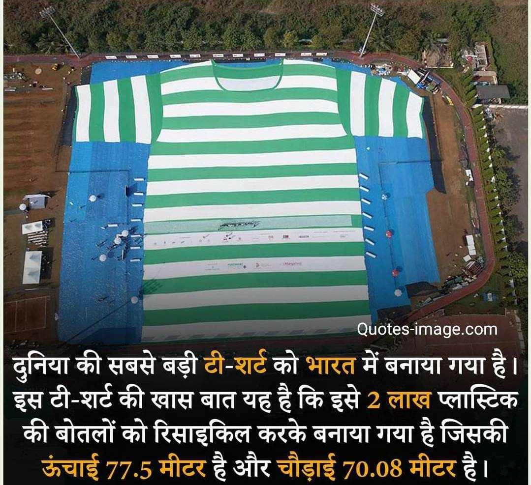 Facts About India | largest T-shirt In The World